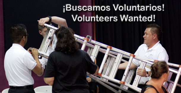 Buscamos voluntarios. Volunteers wanted.